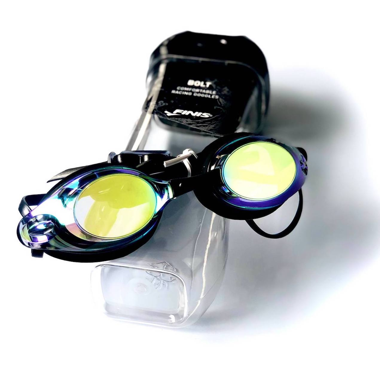 Bolt competition swimming goggles are ideal for racing and training