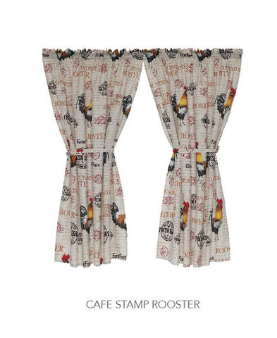 Kitchen Curtain - Cafe Stamp Rooster