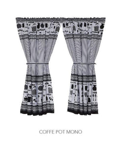 Kitchen Curtain - Coffee Pot Mono