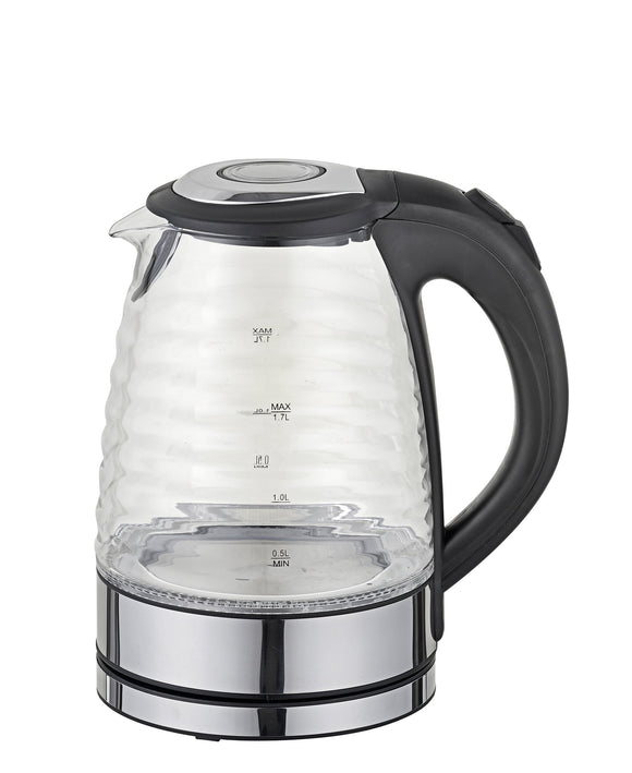 Sunbeam Ribbed Kettle 1.7LT - Black