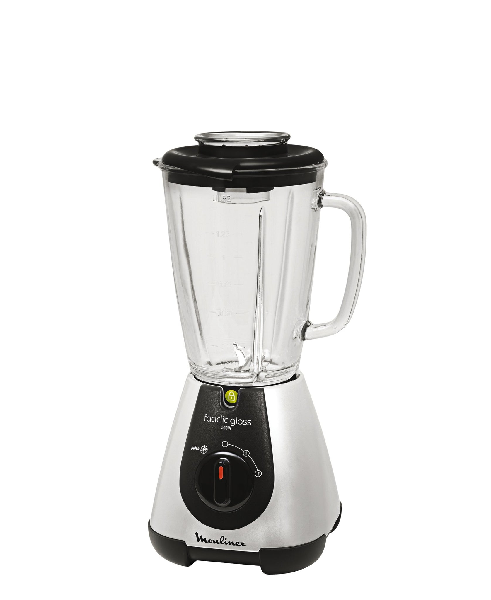 Moulinex Faciclic Blender With Glass Jug - Black