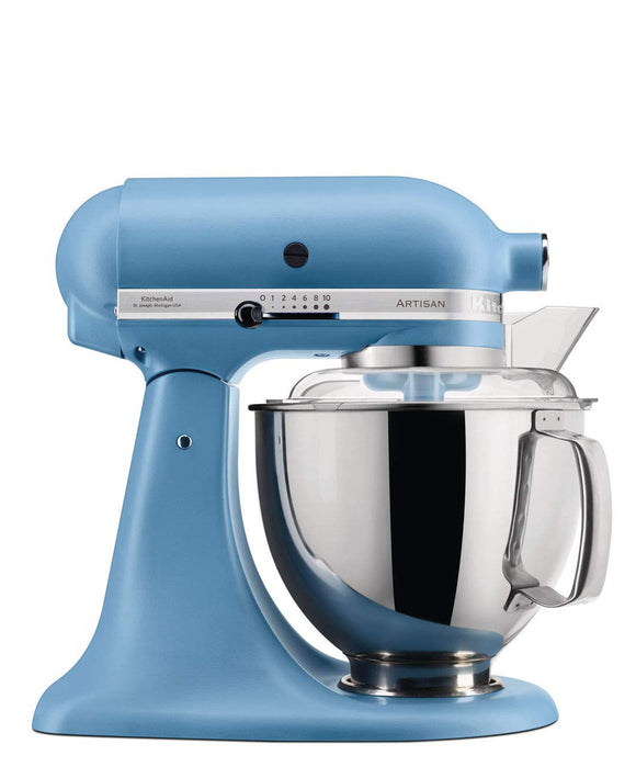 KitchenAid 4.8LT Stand Mixer + Free S/S Bowl - Blue Velvet