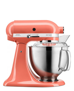 KitchenAid 4.8LT Stand Mixer + Free S/S Bowl - Coral