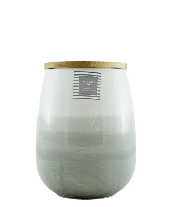 Ciroa Horizon Porcelain Canister with Lid large