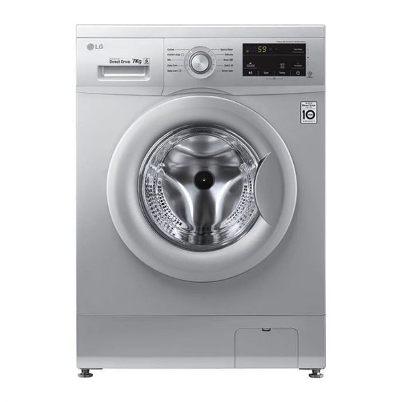 LG 7kg Luxury Silver Front Loader Washing Machine FH0J3HDNP5P