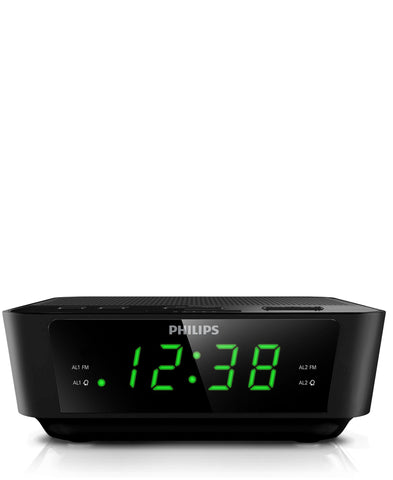 Philips Digital Tuning Clock Radio - Black