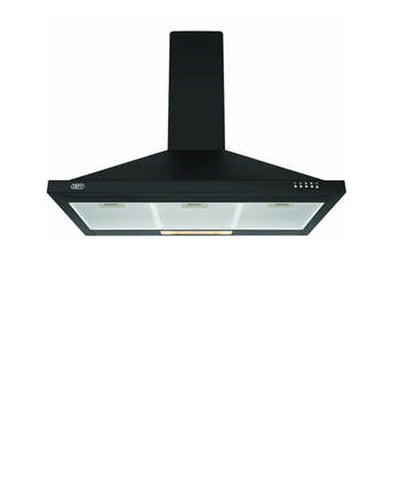 Defy 90cm Black Chimney Cookerhood  DCH313