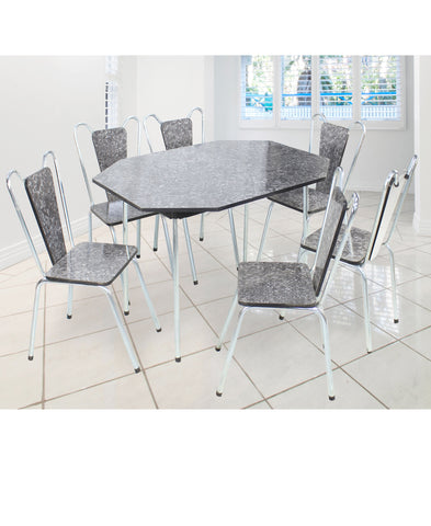 Jose 7 Piece Table & Chairs Black