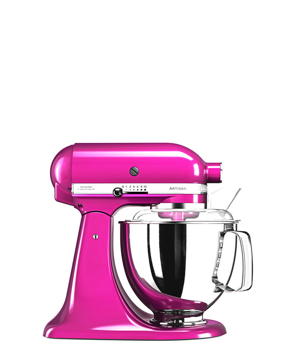 KitchenAid 4.8LT Stand Mixer + Free S/S Bowl - Raspberry Ice