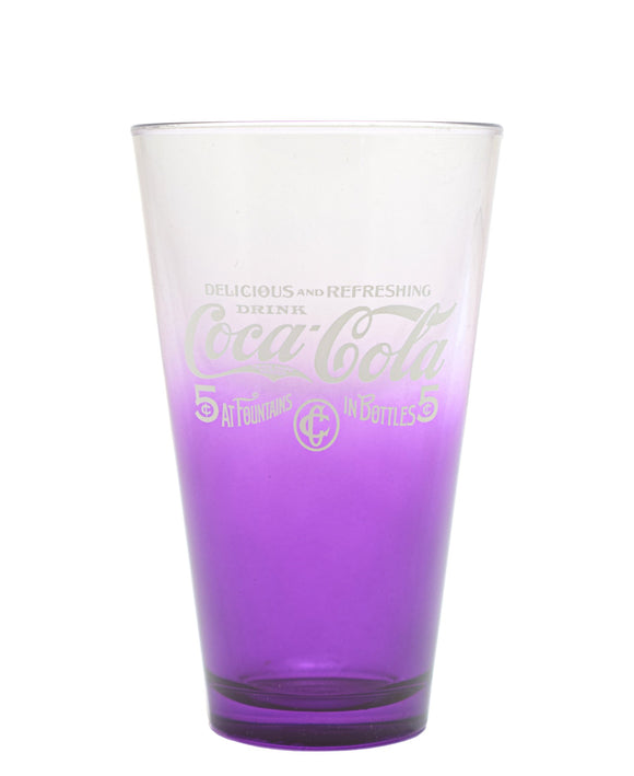 Retro Coca Cola Tumbler - Purple