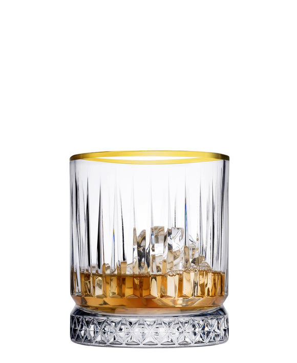 Pasabahce Elysia Gold Rim 4 Piece - Clear With Gold Rim