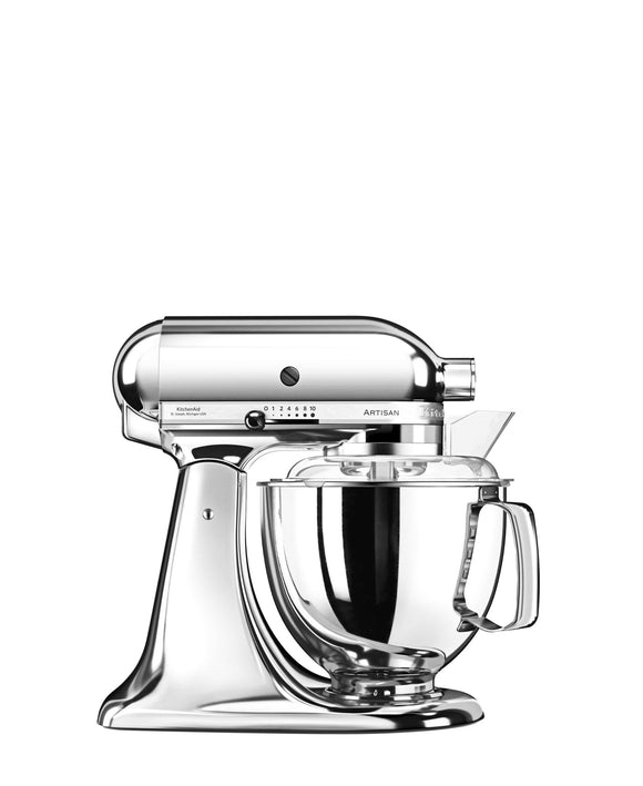 KitchenAid 4.8LT Stand Mixer + Free S/S Bowl - Chrome