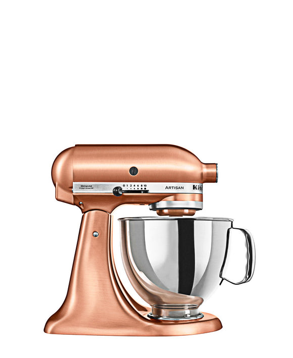 KitchenAid 4.8LT Stand Mixer + Free S/S Bowl - Satin Copper