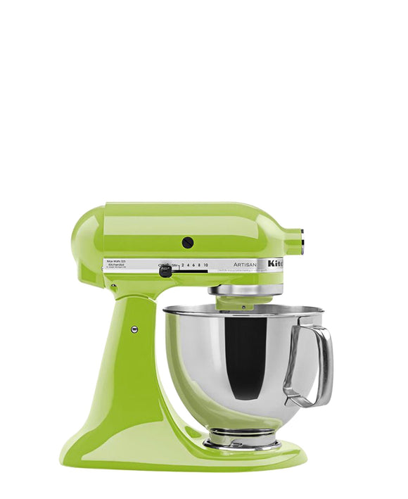 KitchenAid 4.8LT Stand Mixer + Free S/S Bowl - Green Apple