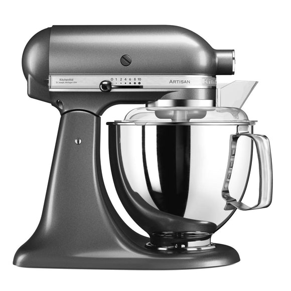 KitchenAid 4.8LT Stand Mixer + Free S/S Bowl - Medallion Silver
