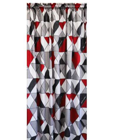 Pierre Cardin Soft Touch Microfibre Curtain Geometric