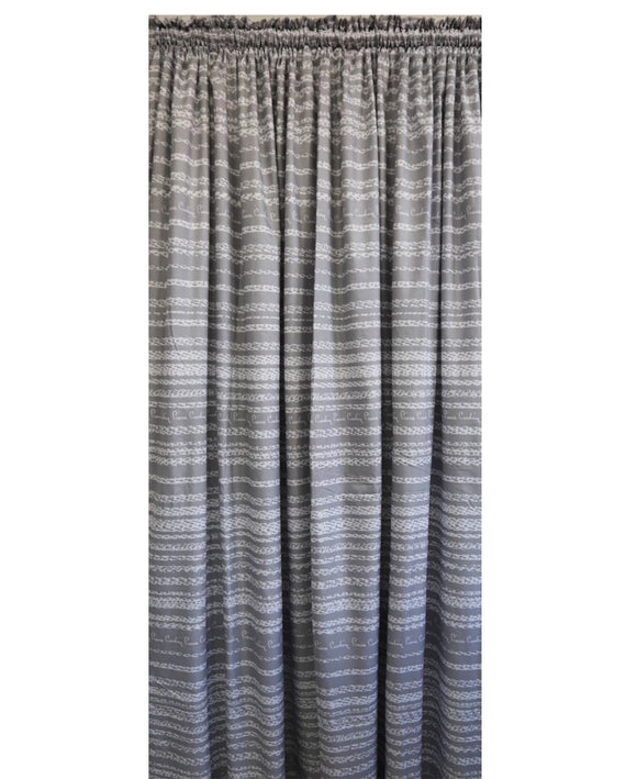 Pierre Cardin Soft Touch Microfibre Curtain Stripe