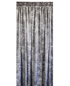 Pierre Cardin Soft Touch Microfibre Curtain Flowers