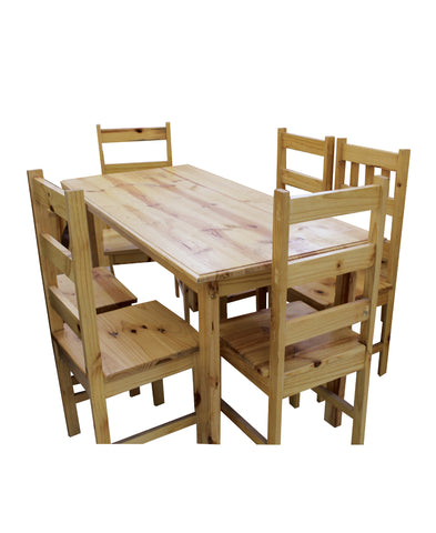 Pine 5 Piece Budget Table And Chairs