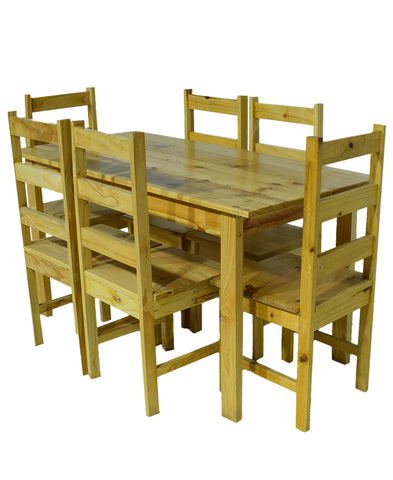 Pine 7pce Budget Table And Chairs