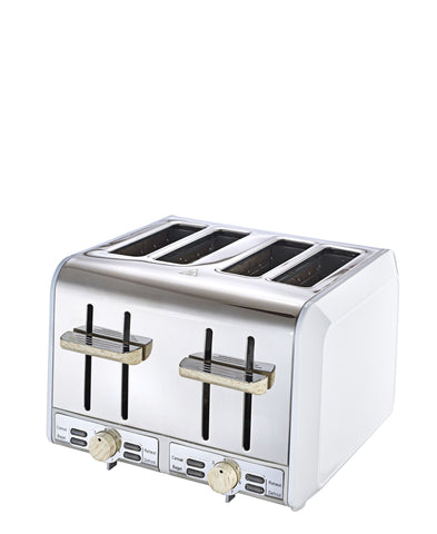 Russell Hobbs 4 Slice Toaster - White And Wood