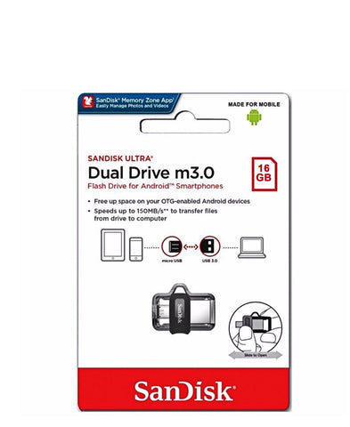 SanDisk 16GB Ultra Dual Drive - Black