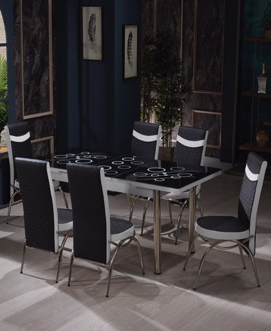 Starlight Black Dining Room Suite (Black Friday)