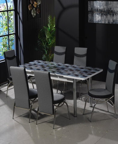Starlight Grey Dining Room Suite