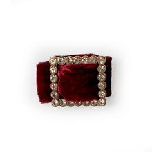 Load image into Gallery viewer, Velvet and Diamanté Napkin Ring - Berry