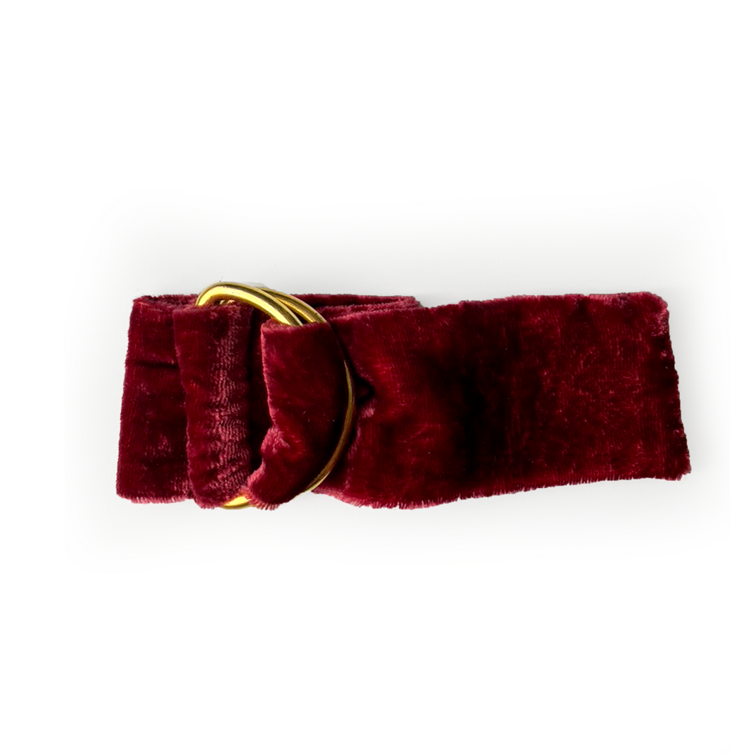 Velvet Napkin Ring - Berry