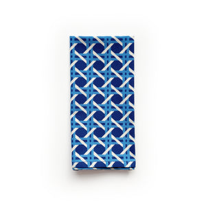 Cane Napkins, Set of 4 - Blue