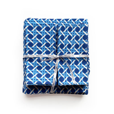 Cane Tablecloth - Blue