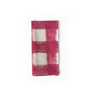Gingham Napkins, Set of 4 - Dusty Rose