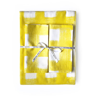 Gingham Tablecloth - Amalfi Yellow