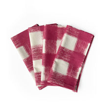 Load image into Gallery viewer, Gingham Napkins, Set of 4 - Dusty Rose