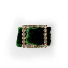 Load image into Gallery viewer, Velvet and Diamante Napkin Ring - Green