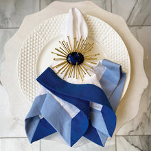 Load image into Gallery viewer, Gold Starburst Napkin Ring - Blue