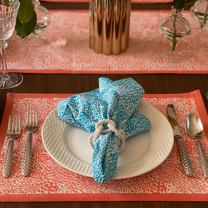 The Wild Child Placemats, Set of 4 - Coral
