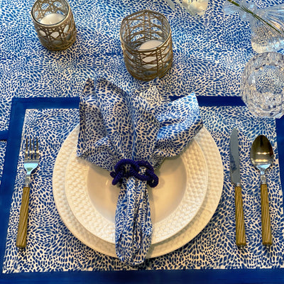 The Wild Child Placemats, Set of 4 - Blue