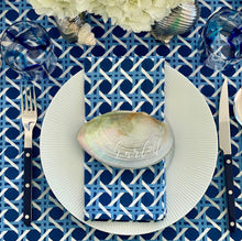 Load image into Gallery viewer, Cane Napkins, Set of 4 - Blue