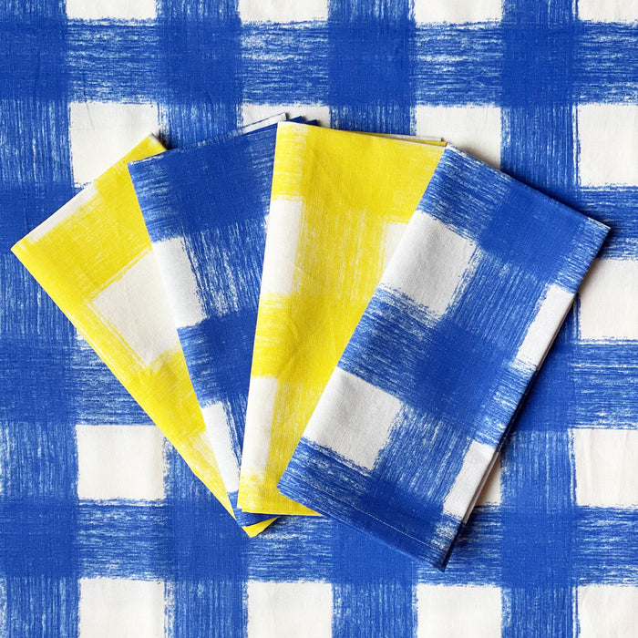 Gingham Tablecloth - Azure Blue