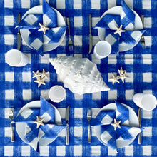 Load image into Gallery viewer, Gingham Tablecloth - Azure Blue
