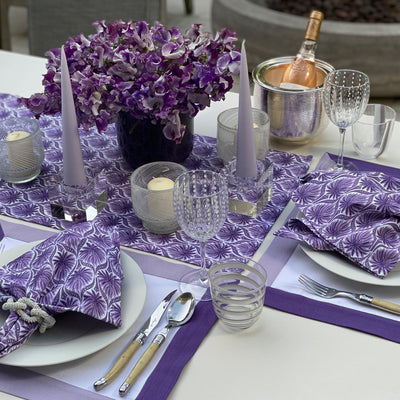 The Romantic Table Runner - Purple