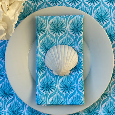 The Romantic Napkins, Set of 4 - Turquoise