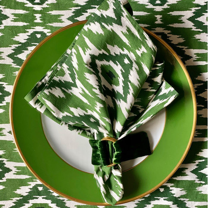 Ikat Napkin, Set of 4 - Green