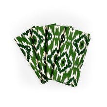Load image into Gallery viewer, Ikat Napkin, Set of 4 - Green