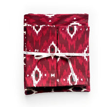 Load image into Gallery viewer, Ikat Tablecloth - Burgundy