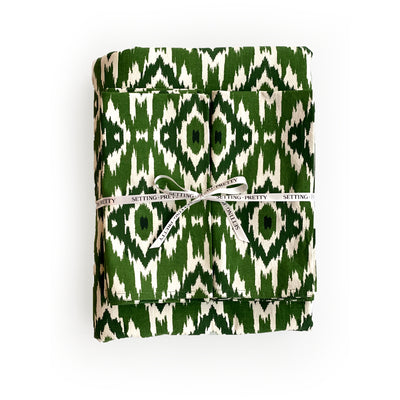 Ikat Tablecloth - Green
