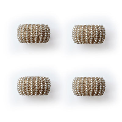 Pearl Napkin Ring - Set of 4