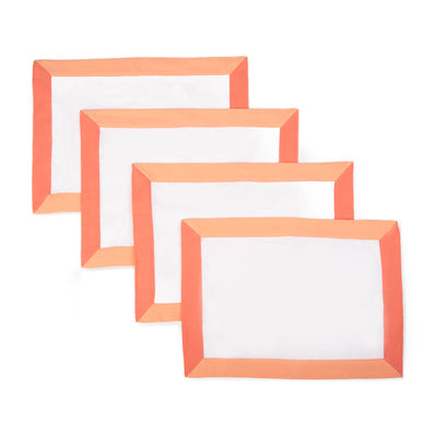 The Modernist Placemats, Set of 4 - Coral